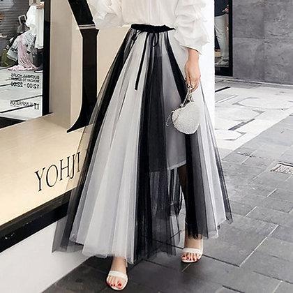 Vintage Elastic High Waist Tulle Skirts