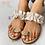 Thumbnail: Pineapple Pearl Flat Toe Bohemian Casual Beach Sandals