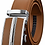 Thumbnail: Luxury Automatic Buckle Genune Leather Strap Black Brown / High Quality