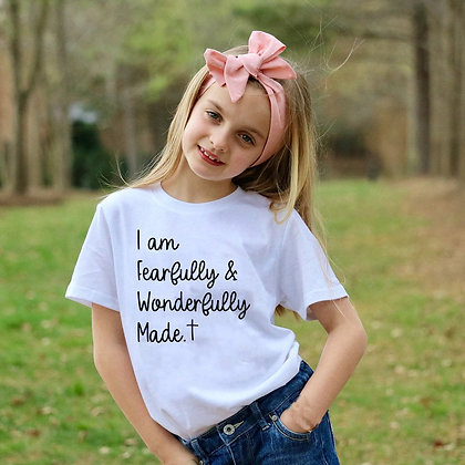 'Fearfully and Wonderfully Made ' Kids T-Shirt