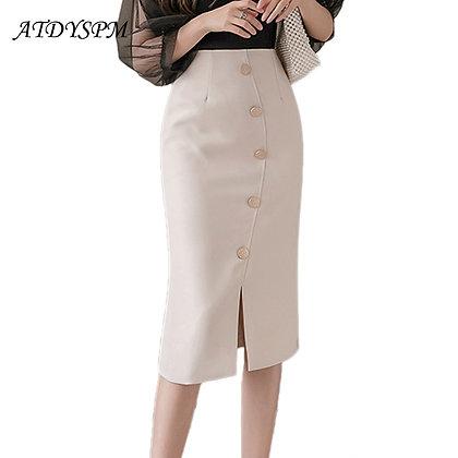 High Waist Split Slim Pencil Elegant Casual Skirts