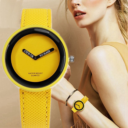 Stylish Yellow Black Dial Watch