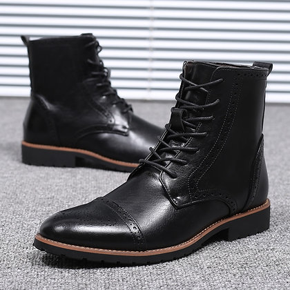 Misalwa Collective - Men's Lace-Up Casual - Comfort Chelsea Ankle Boots