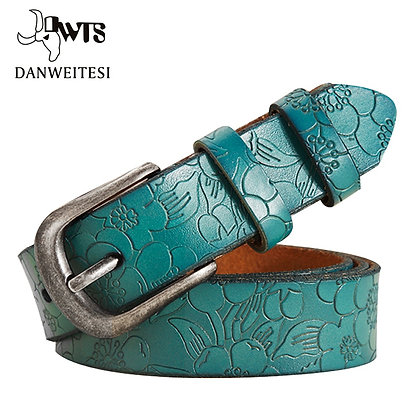 [DWTS] - Genuine Leather Floral Carved Belts @ GOOGOOSTORE / 6 Colors