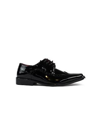 Men's Patent Brogue Shoes
