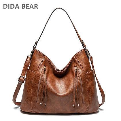 DIDABEAR Hobo Bag Leather Women Handbags /Shoulder Bags Vintage Large Bucket Bag