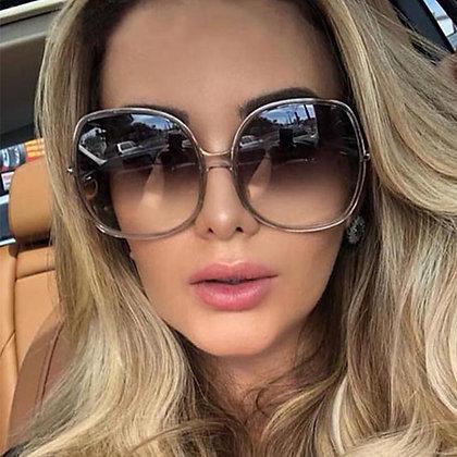 Oversized Round Luxury Big Frame Vintage Gradient Sunglasses