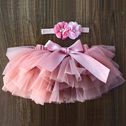 Infant Newborn 2pcs Short Skirts+Headband