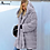 Thumbnail: Plus Size 4XL 5XL Europe and America Medium Solid Pink Loose Plush Hooded Coat