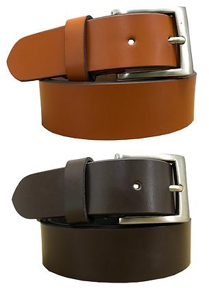 Multipack Tan Brown & Brown (Set of 2 Belts) Twin Pack / Genuine Leather