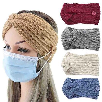 Woolen Twist Knitting  Cross Headband Warmer