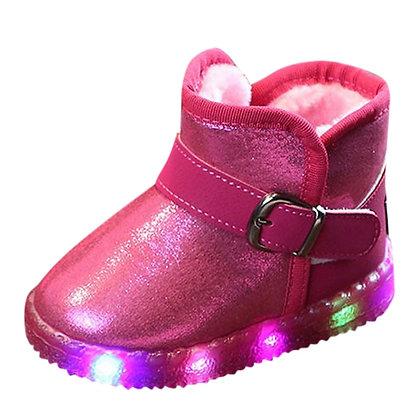 LED Light Up Luminous Winter Warm Kids Snow Boots