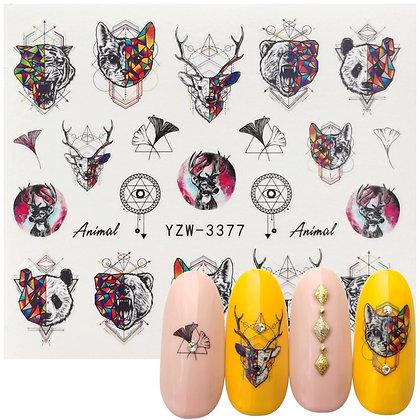 Nail Mixed Pattern Transfer Stickers /  Nail Art Decoration