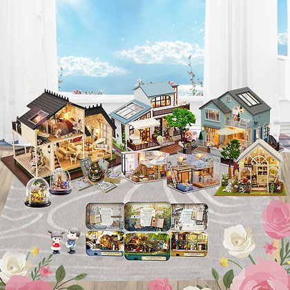 Cutebee Doll House Furniture Miniature Dollhouse DIY Miniature House