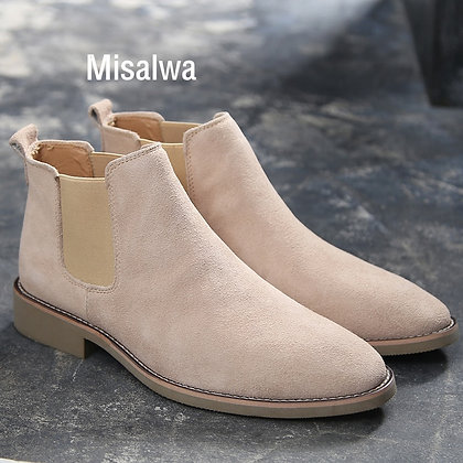 Suede - Leather Ankle Boots