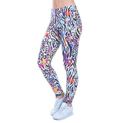 Wild Dots Printed High Waist Stretch Leggings