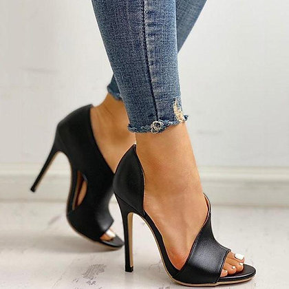 High Heels Buckle Peep Toe Gladiator /Office Hollow Out Sandals