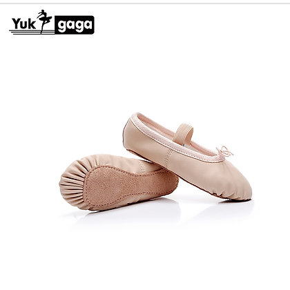Leather Ballet Shoes / Full Cow Suede Sole /Soft Gymnastics Dance Shoes