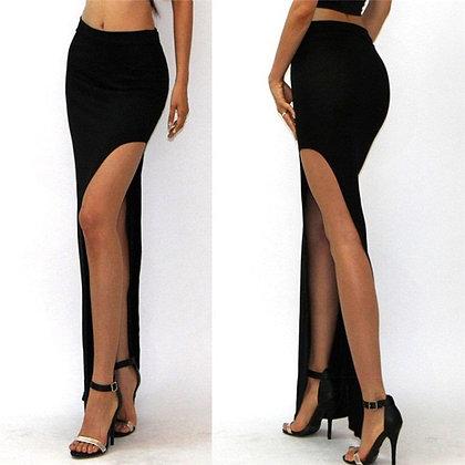 Lady Empire Open Side Split - High Waist - High Slit Maxi Skirts at Googoostore