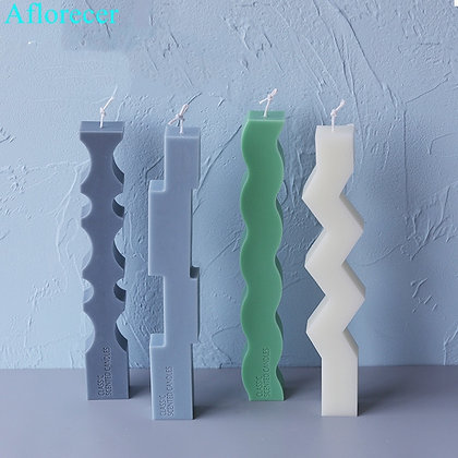 Speical Shaped Strip Candle Silicone Mould European Simple Candle Molds