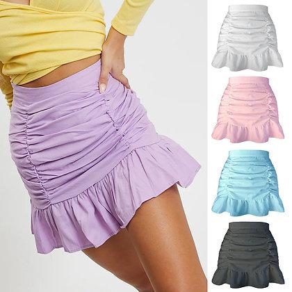 Drape Pockets Hip Fishtail Skirts / Five Colors