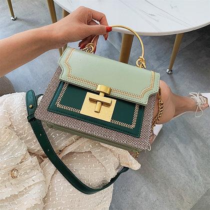 2021 New Fashion Pathwork PU Leather Women Crossbody Bags / Vintage