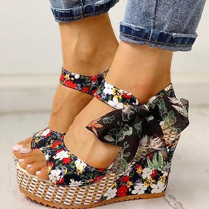 Platform Wedge /Ankle Strap Open Toe Sandals