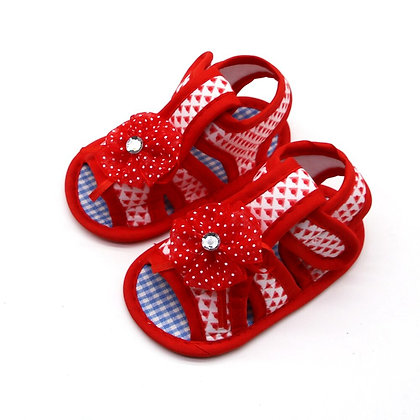 Newborn Cotton Baby Girl Hollow -Soft-Soled Sandals Princess Baby Shoes