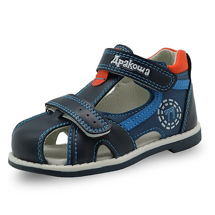 Closed Toe Toddler Boys Sandals Orthopedic Sport Pu Leather Sandals