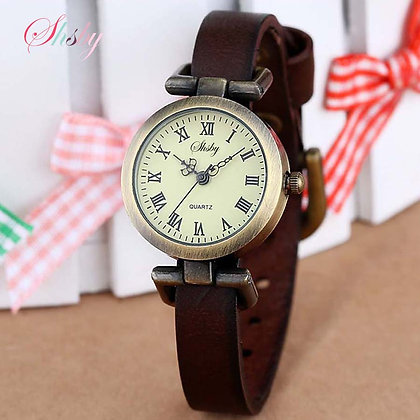 Hot-Selling Leather Female Watch ROMA Vintage Watch