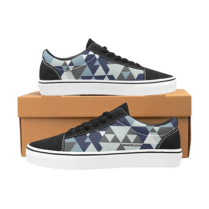 Triangle diamondMen's Lace-Up Canvas Shoes