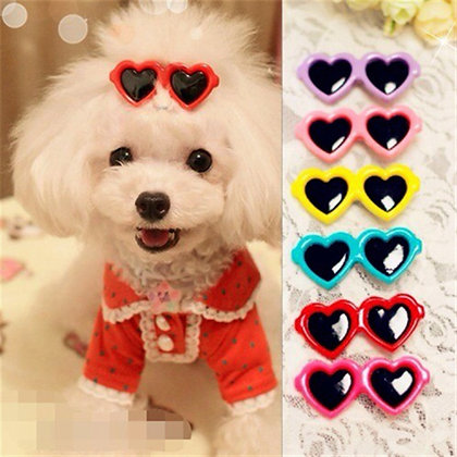 Heart Sunglasses Hairpins / Hair Clips for your Puppy