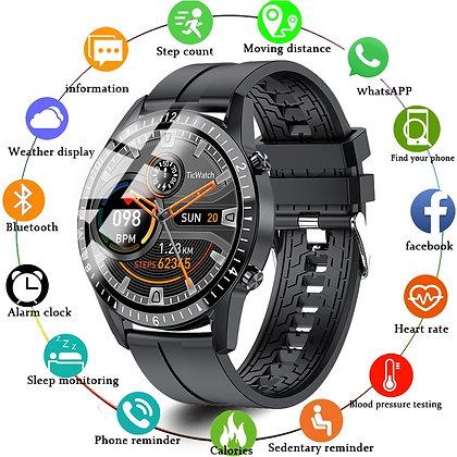 LIGE Bluetooth Phone Smart Watch Men Waterproof Sports Fitness Watch