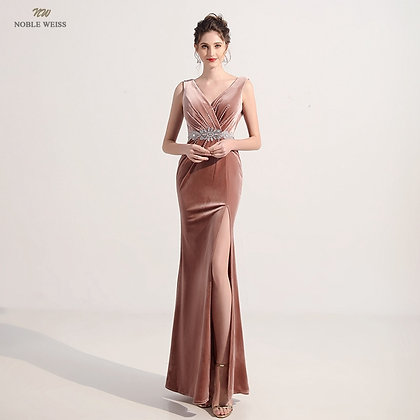 V-Neck   Evening Party Night Dress