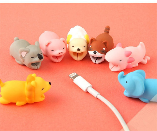 Cute Cartoon Cover Protect /Wire Organizer Holder for IPhones