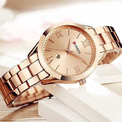 CURREN - Rose Gold Stainless Steel Wrist Watch