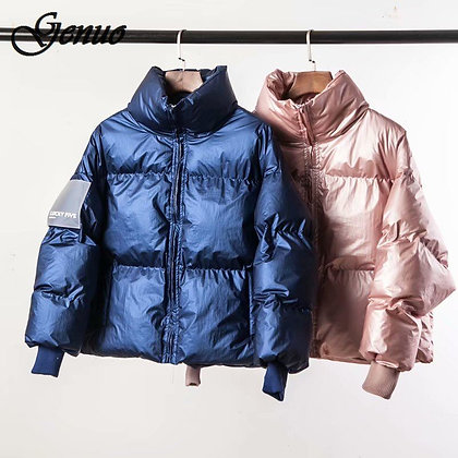 Glossy Down Parka / Large Sizes Winter Warm Loose Jacket