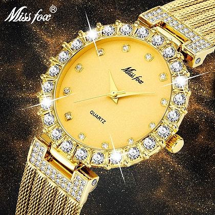 Big Lab Diamond Ladies Wrist Watch