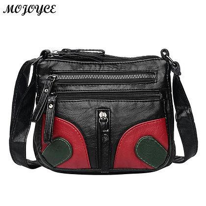 Vintage Soft Pu Leather / Casual Totes Shoulder Bag Design Zipper Bolsa Feminina