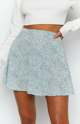 Flared Floral High Waist Mini Skirt - Falda Jupe / Googoostore