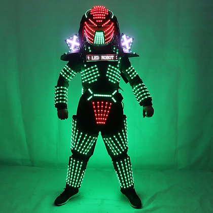 LED Robot Costumes Clothes LED Lights Luminous Stage Performance Show Dress