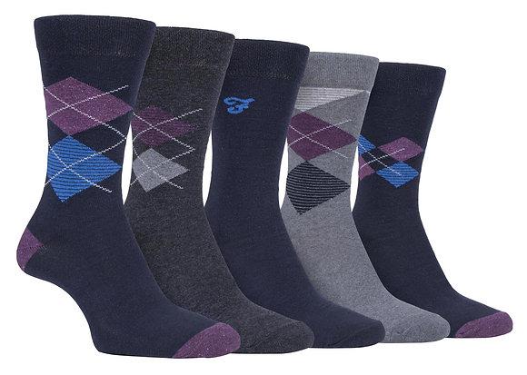 5 Pack Mens Classic Cotton Dress Socks