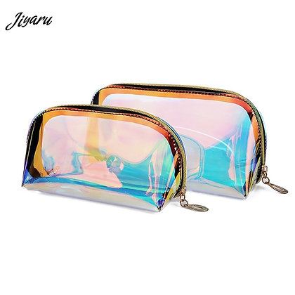 Sale-Fashion Laser Cosmetic Bag Women Makeup Case TPU Transparent