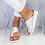 Thumbnail: PU Leather Comfy Platform Flat Sole Sandals