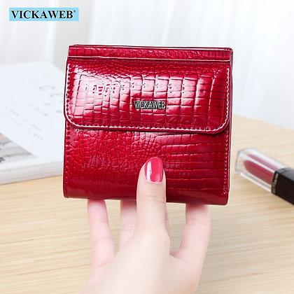 VICKAWEB - Genuine Leather / Alligator Hasp Purse