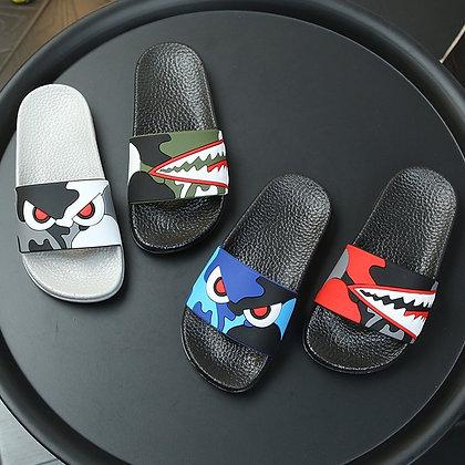 Kids Cartoon Shark Slippers Boys / Girls Flip Flop