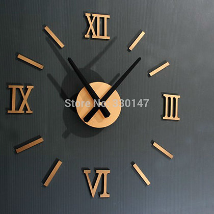 Wall Clock Diy 3d Mirror Silent Clock Acrylic Brief Quieten DIY Wall Clock