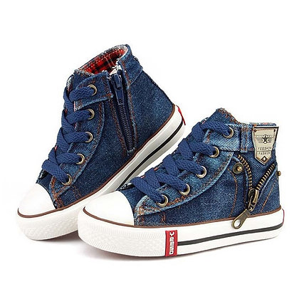 Sport Breathable Sneakers Brand Kids Shoes /Jeans Denim