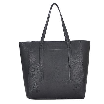 Mechaly Women's Ashley Black Vegan Leather Hobo Handbag