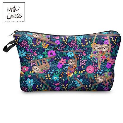 Cosmetic Bag Sloths Meadow Print Oiletry Bag